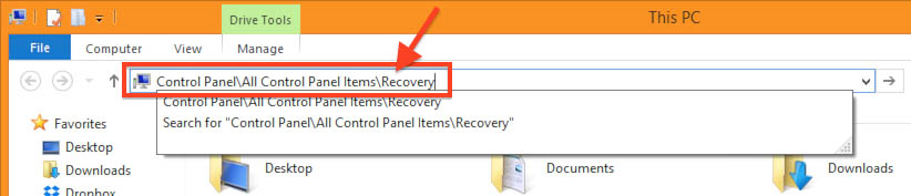 Windows 8.1 - How to get to Recovery Tools