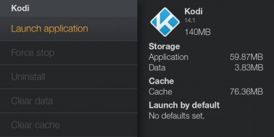 Amazon Fire TV - Launch Kodi