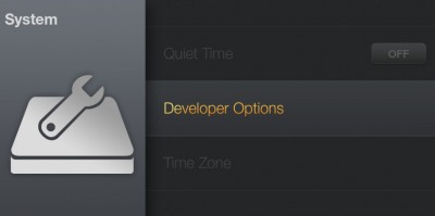 Amazon Fire TV - Goto Developer options