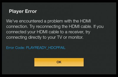 HDCP Error Message (Amazon Fire TV)