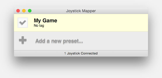 Joystick Mapper - Enable your Preset before starting your game