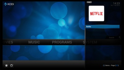 Kodi - Netflix App in your Favourites