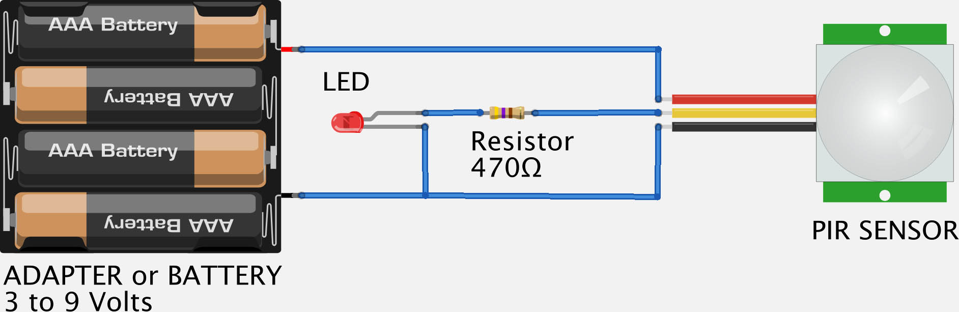 Pir Light With No Override moreover  in addition Schemview together with Microcontroller Project Thief Detector Using Pir Motion Sensor And Pic Microcontroller further Heartbeat Monitor Project Using Arduino. on pir sensor circuit diagram