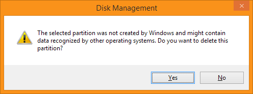 Disk Management - Are you sure?