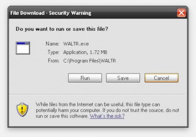WALTR - Security warning at first start