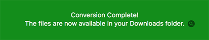 YouTube Converter - Done downloading