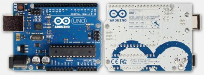 Arduino Uno R3 - front and back view