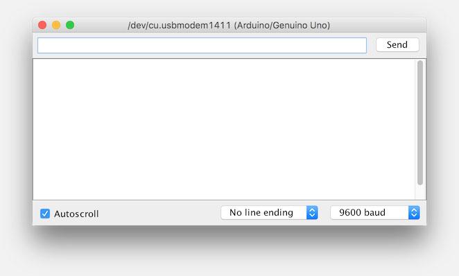 Arduino IDE - Serial Monitor window