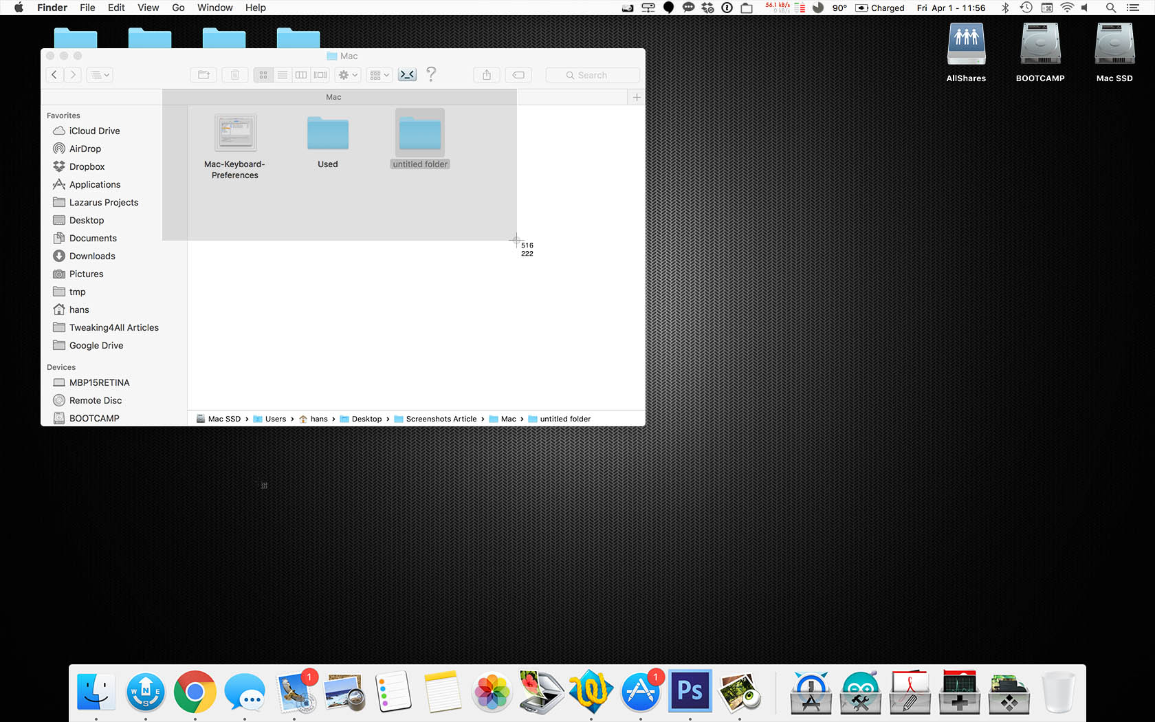 Tweaking4all macos x how to take screenshots and add annotations macos x example selection screenshot ccuart Gallery