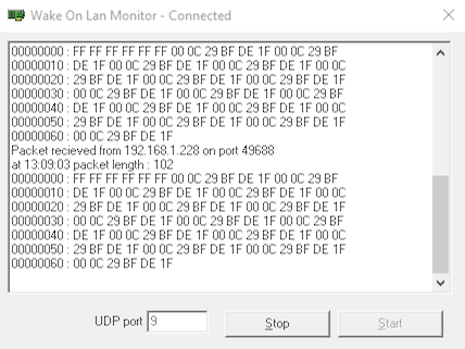 Wake on Lan Monitor (Windows)