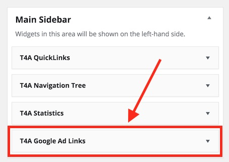 Google Ad Widget - Placed in a Sidebar