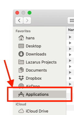 MacOS - Applications in Finder