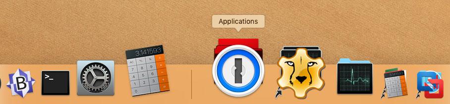 MacOS - Standard Dock look