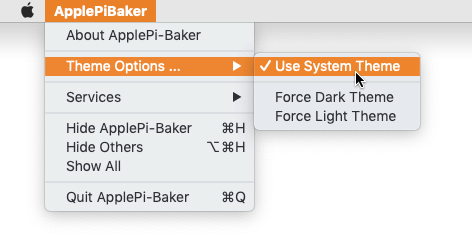 ApplePi-Baker - Theme Settings