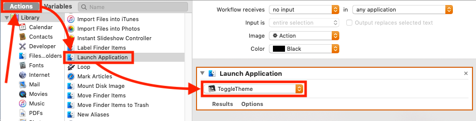 "ToggleTheme - Automator ""Launch Application"""