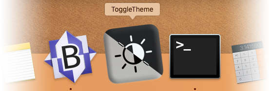 ToggleTheme Shortcut in your MacOS Dock