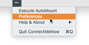ConnectMeNow - Empty Menu at First Start