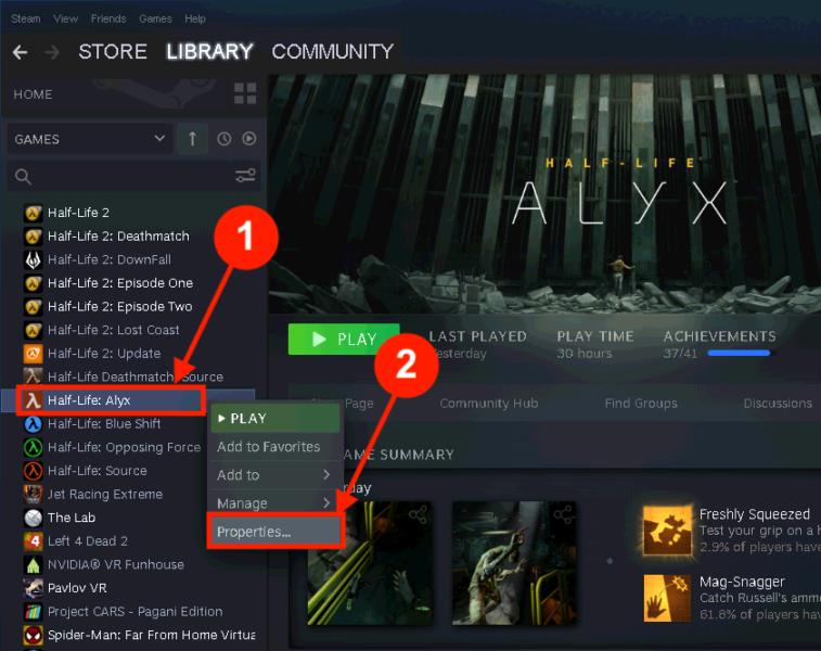 Half-Life: Alyx: Open Properties