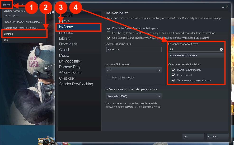 Steam - Remap the button for screenshots