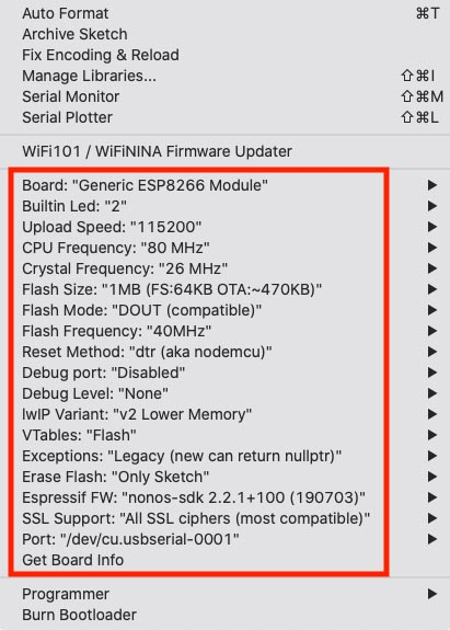Generic ESP8266 - Wow, tons of options!