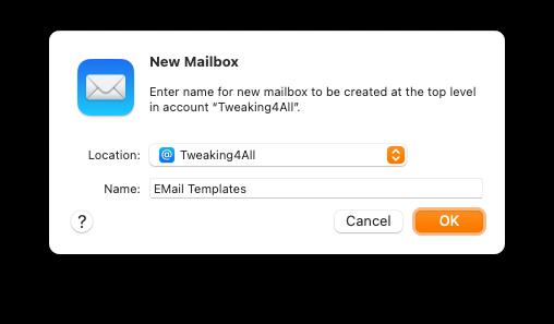 Apple Mail - Create a new Mailbox
