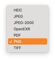 Preview - Available Export Formats